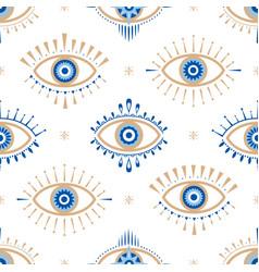 Evil eye seamless pattern vector