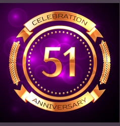 Fifty one years anniversary celebration with vector