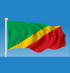 flag of republic of congo vector image