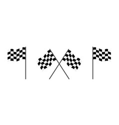 flag race checkered flag for start and finish vector image