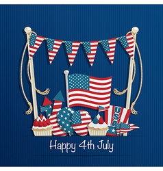 Fourth july decoration vector