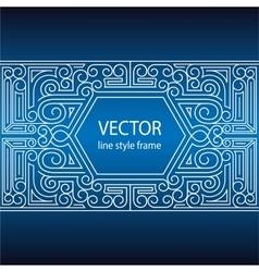 Geometric linear style frame - art deco vector