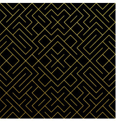 golden abstract geometric pattern tile background vector image