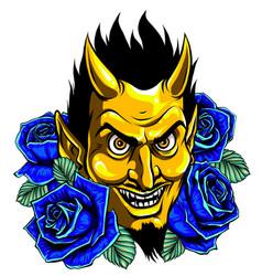 Graphic image a demon or devil mascot vector