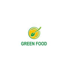 green foor organic logo vector image