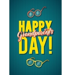 Happy Grandparents Day Greeting Card Spanish vector image