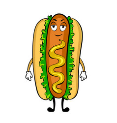 Hot dog cartoon pop art vector
