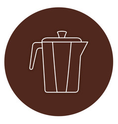 Kettle coffee isolated icon vector