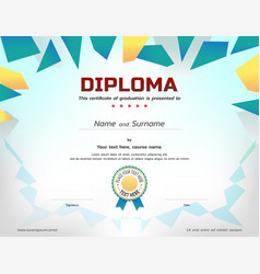 Kids diploma or certificate template with awarded vector