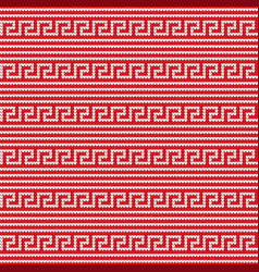 knitted greek seamless texture vector image