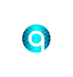 letter q technology logo designs inspiration vector image