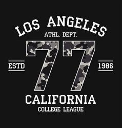 Los angeles california t-shirt design vector