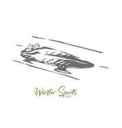 luge winter sport ice speed concept vector image
