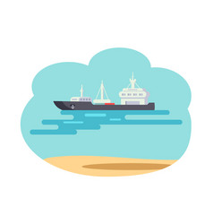 marine means of transport vector image