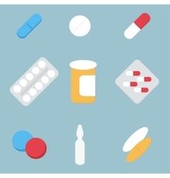 Medical treatment pills vector image