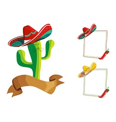 Mexican food menu design set vector