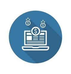 Monetization icon business concept flat design vector