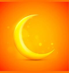 moon sign icon on the orange background vector image