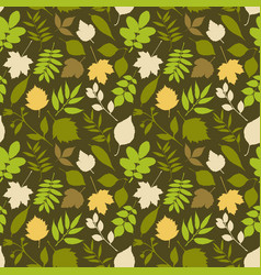 nature abstract green background with green leaves vector image