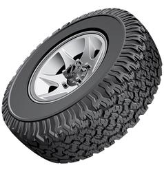 Offroad vehicles wheel vector