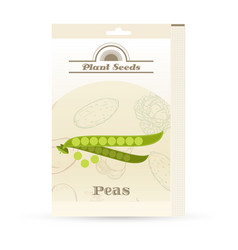 Pack peas seeds icon vector