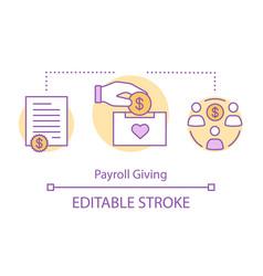 Payroll giving concept icon vector