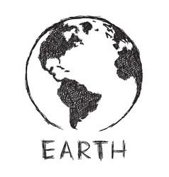 planet earth rough sketch vector image