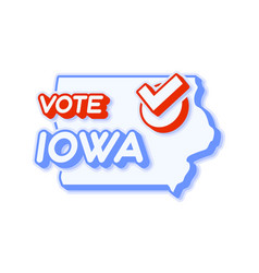 Presidential vote in iowa usa 2020 state map vector