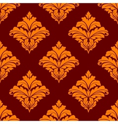 Red and orange floral seamless pattern vector image