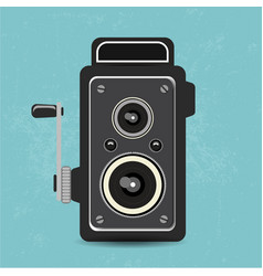 Retro camera old vector
