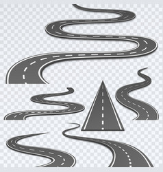 Road with white stripes on a plaid background vector