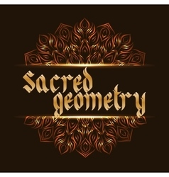 Sacred geometry mandala vector image
