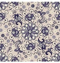 seamless floral pattern vintage vector image