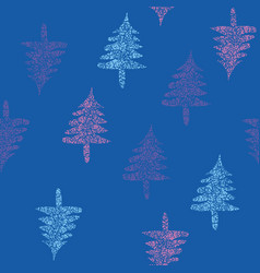 seamless pattern with blue purlple and pink vector image