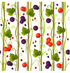 seamless pattern with summer currant vector image