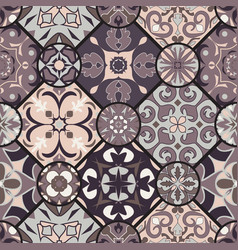 Seamless texture mosaic patchwork ornament vector