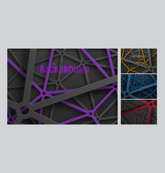 Set of backgrounds in an intricate metal spider vector