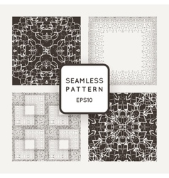Set of four seamless patterns intricate vector