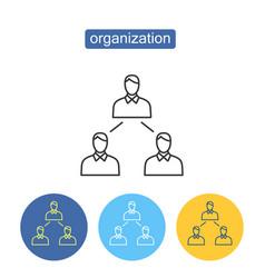 Social organization outline icons set vector