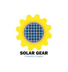 solar gear design vector image