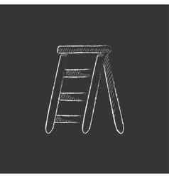 Stepladder Drawn in chalk icon vector