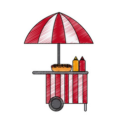 street food stand icon image vector image