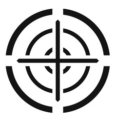 Svd gun aim icon simple style vector