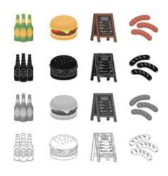 tavern food recreation and other web icon in vector image vector image