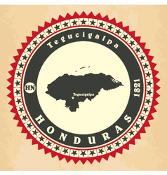 Vintage label-sticker cards of Honduras vector