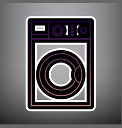washing machine sign violet gradient icon vector image