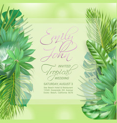 wedding event invitation card vector image