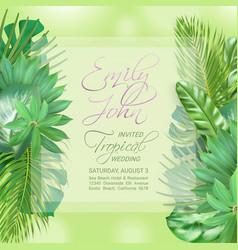 wedding event invitation card vector image