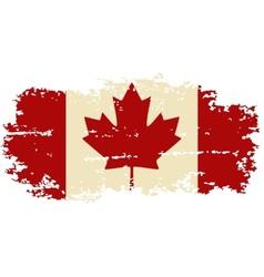 Canadian grunge flag vector