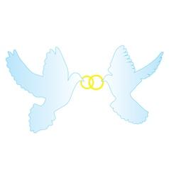 Doves rings vector